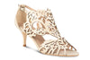 ivory wedding shoe with 2 inch heel