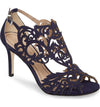 Navy wedding shoe with low heel