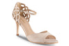 nude sandal with comfortable heel