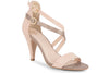 Klub Nico Arden sexy colorblock sandal in romantic blush and pewter colors is stunning.  A great mid heel sandal that is feminine and comfortable