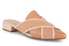 Klub Nico Georgia Pointed Toe Mule Slide is fun and unique with the criss cross details and striped heel.