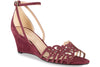 wine wedding wedge sandal