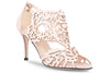 Blush laser cut wedding shoe