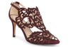 Klub Nico Marcela Burgundy 3 inch laser cut wedding shoe