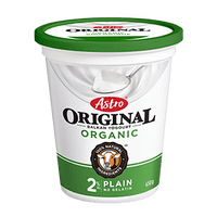 Astro Original Organic Yogurt, Plain 650g
