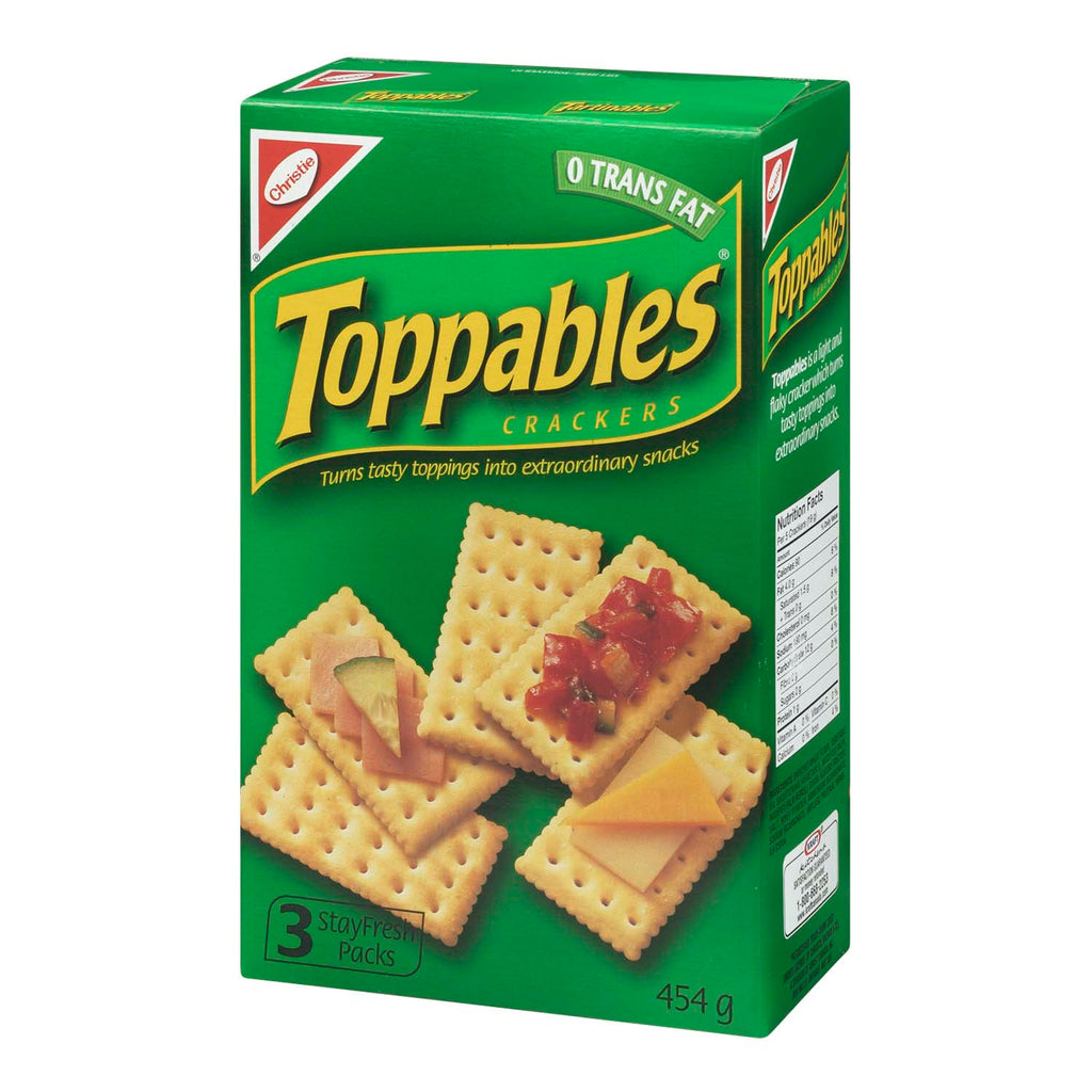 CHRISTIE TOPPABLES CRACKERS	454 G