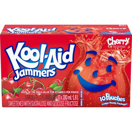 KOOL AID JAMMERS CHERRY	10 X 180 ML