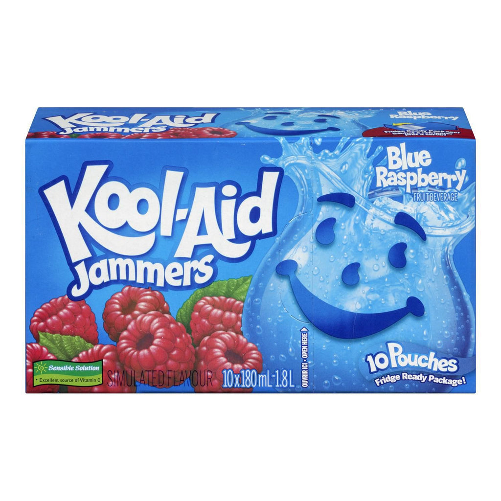 KOOL AID JAMMERS BLUE RASPBERRY	10 X 180 ML