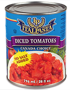 ITALPASTA DICED NO SALT TOMATOES 796 ML