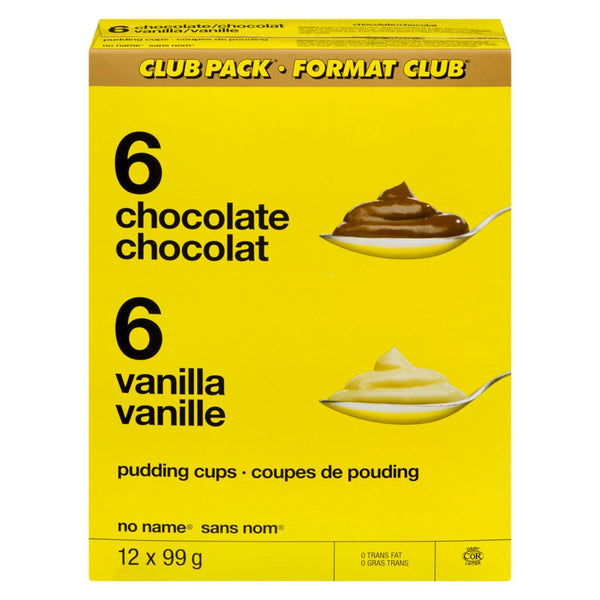 No Name Club Size Choc Van Puddings 12X99G