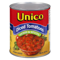 Unico Diced Tomatoes, Herb & Spices 796 ML