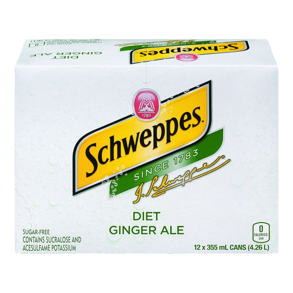 Schweppes Diet Ginger Ale 12X355Ml