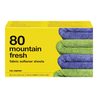 No Name Fabric Softener Sheets Mountain Scent 80Pk