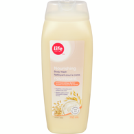 Life Brand Body Wash Oatmeal & Shea Butter	710mL
