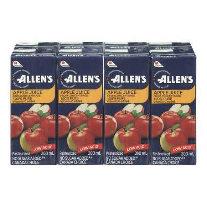 ALLENS APPLE JUICE 8X200ML