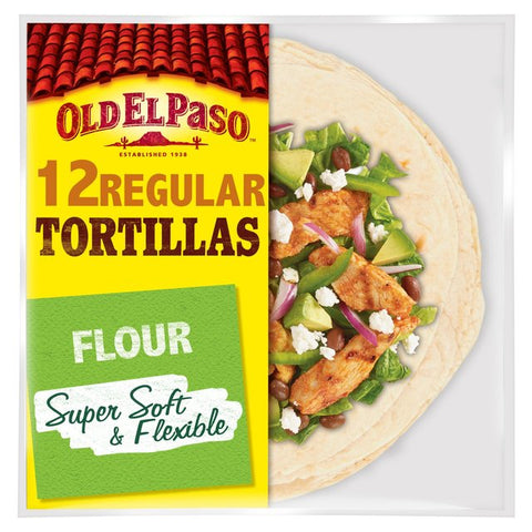 OLD EL PASO MEDIUM FLOUR TORTI 12PACK