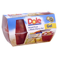Dole Mixed Fruit Cherry Gel 4 Pk