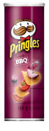 Pringles Potato Chips, BBQ 156g