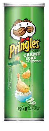Pringles Sour Cream & Onion Flavour Potato Chips 156 G