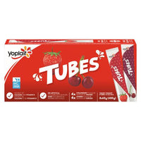 Tubes by Yoplait Cherry/Strawberry Yogurt 8 x 60 g