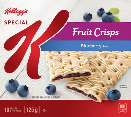 Kellogg's Special K Fruit Crisps, Blueberry Flavour - 125g 10 bars
