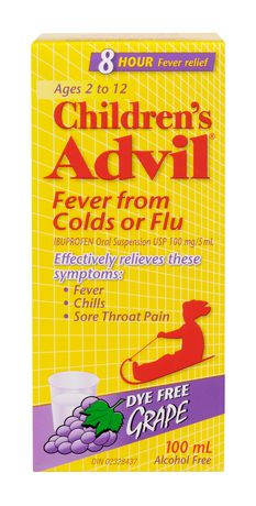 CHILDREN'S ADVIL COLD & FLU LIQUID GRAPE 100 ML