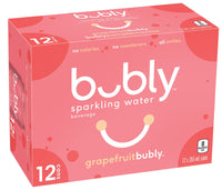 Bubly Sparkling, Grapefruit 12x355mL