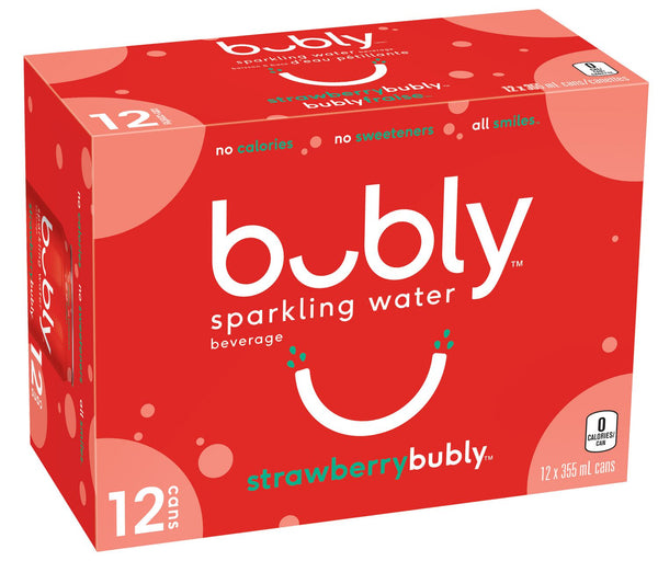 Bubly Sparkling, Strawberry 12x355mL