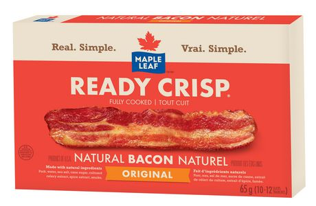 Maple Leaf Ready Crisp Cooked Bacon Strips - 65 G