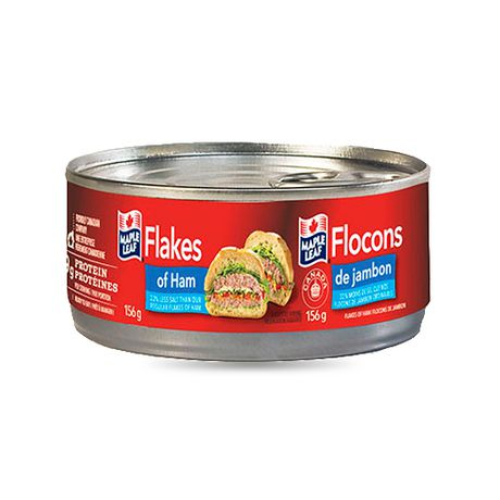 MAPLE LEAF FLAKES OF HAM  LESS SALT 184 G