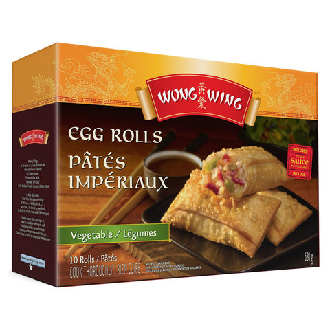 WONG WING VEGETABLE EGG ROLLS 680 G