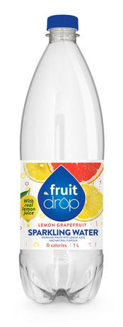 FRUIT DROP SPARKLING WATER  LEMON GRAPEFRUIT	1 L