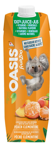 OASIS FRUIT ZOO PEACH /CLEMENTINE  VIT & MIN	960ML