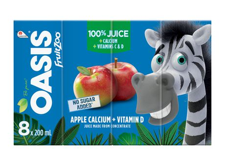 Oasis Fruit Zoo Apple Calcium Juice	8 X 200Ml