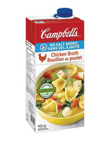Campbell's Chicken Broth, No Salt	 900mL