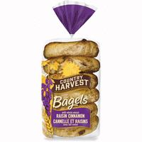 C HARVEST CINN RAISIN BAGEL 6 PACK