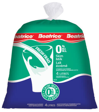 Beatrice 0% Skim Milk 4 Lt