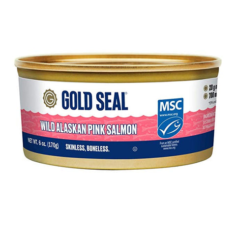 GOLD SEAL PACIFIC PINK SALMON SKLS AND BNLS 170 G