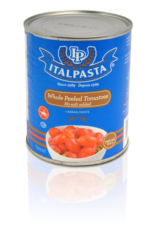 ITALPASTA WHOLE NO SALT TOMATOES 796 ML