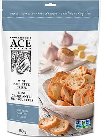 ACE MINI BAGUETTE CRISP  ROASTED GARLIC 180 G