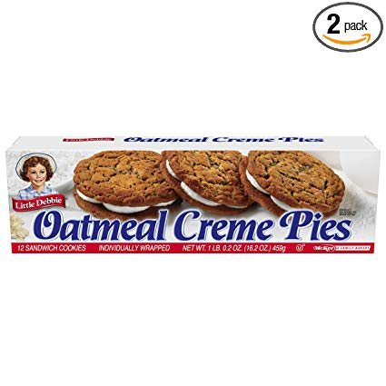 LITTLE DEBBIE OATMEAL CREAM PIES 1 BOX