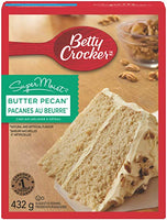 Betty Crocker Supermoist Cake Mix, Butter Pecan 432g