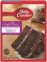 Betty Crocker Supermoist Cake Mix, Chocolate Fudge 432g