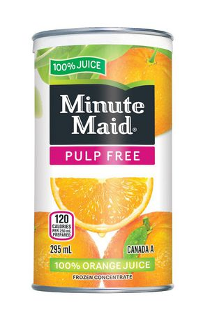 Minute Maid Pulp Free Orange Juice 295mL