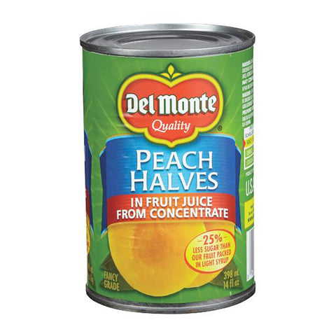 DEL MONTE PEACH HALVES IN JUICE 398 ML
