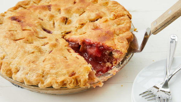 Baked Rhubarb/Strawberry Pie 8 Inch 620 G, No Sugar Added