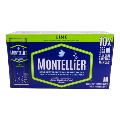 MONTELLIER LIME CARB WATER 10X355 ML