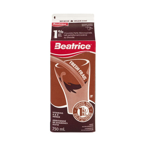 BEATRICE 1% CHOCOLATE MILK 750 ML