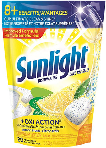 SUNLIGHT AUTO DISH OXI ACTION 20 PK