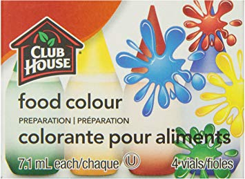 Club House Food Colours Original 4 Vials	28 Ml